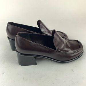Franco Sarto Brown Leather Loafers